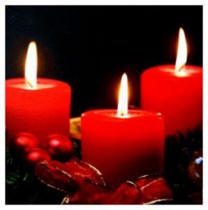 """Картина с подсветкой """"Красные свечи и шары"""" (30*30 см)"""