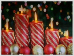 """Картина с подсветкой """"Красные свечи и шары"""" (30*40 см)"""
