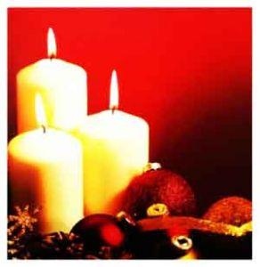 """Картина с подсветкой """"Белые свечи и шары"""" (30*30 см.)"""