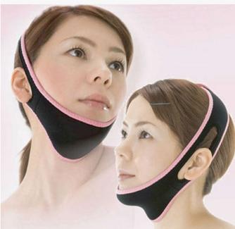 Ночная эластичная маска повязка для подтяжки и коррекции овала лица