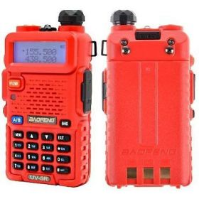 Рация Baofeng UV-5R Красная 8 Ватт (с гарнитурой)