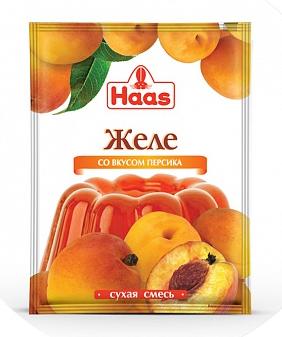 ХААС Желе десертное со вкусом персика сухая смесь 50 г
