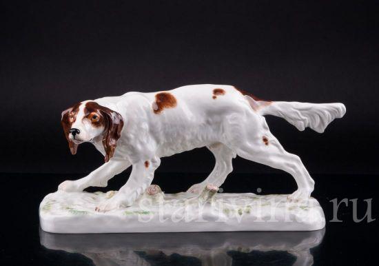 Фарфоровая статуэтка собаки Сеттер производства Meissen, Германия, 1963 г.