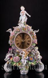 Часы Времена года, Sitzendorf, Германия, сер. 20 в