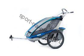 Коляска Thule Chariot CX2/Си Икс2, в комплекте с велосцепкой, синий, 14-