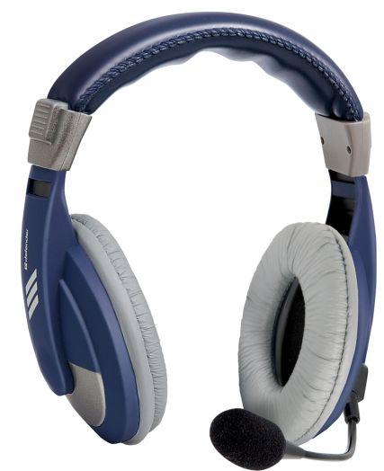Мониторные наушники с микрофоном Defender Gryphon 750 синий, кабель 2 м