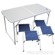 Набор мебели, стол + 4 табурета  PREMIER