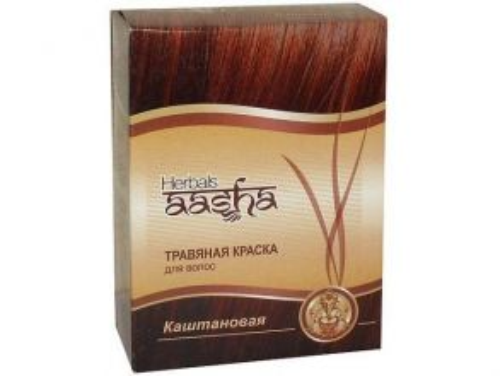 Краска для волос | Каштановый | 60 г | Aasha Herbals
