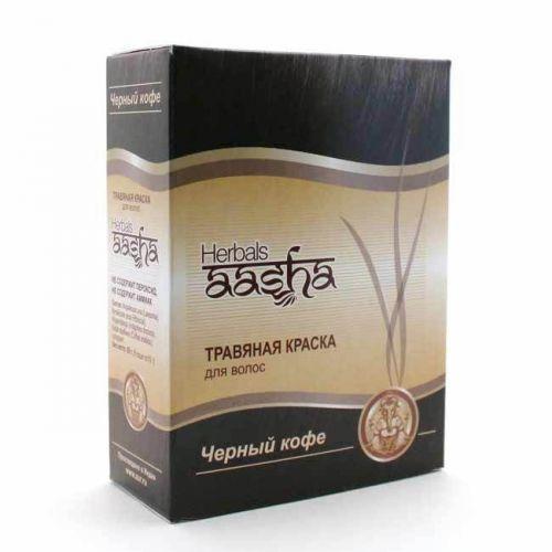 Краска для волос | Черный кофе | 60 г | Aasha Herbals