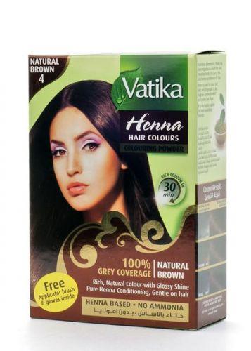 Краска для волос на основе хны | Коричневый №4 | 60 г | Dabur Vatika Naturals