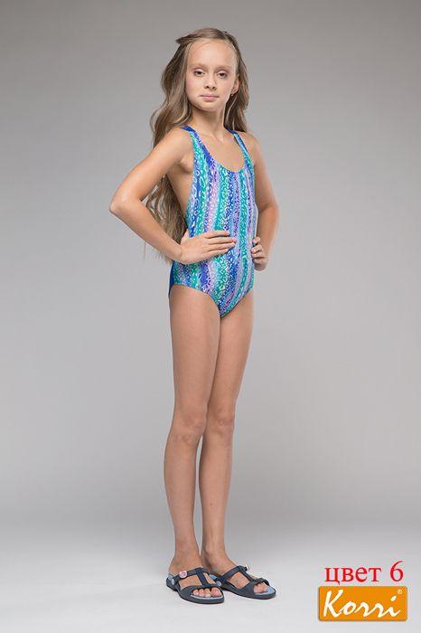 Радужный купальник для девочки