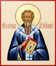Икона Кирилл Иерусалимский (рукописная)