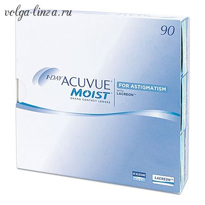 1-DAY Acuvue MOIST for Astigmatism,90 шт