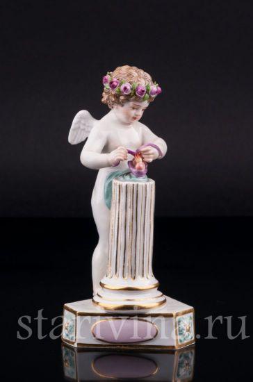 Изображение Соединение сердец, ангелочек, Meissen, Германия, 19 в