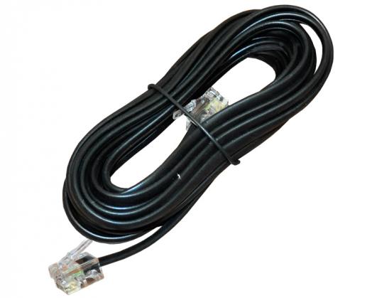 Телефонный удлинитель ДЖЕТТ ТД-7 ( джек 6p4c - джек 6p4c ) 7 м (черный)