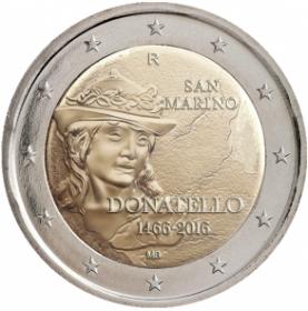 550 лет co дня смерти Донателло  2 евро Сан-Марино 2016