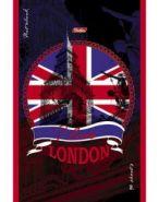 """Блокнот """"London"""" 96 л, А5ф, клетка, на скобе, выб лак (арт. 12538) (11796)"""