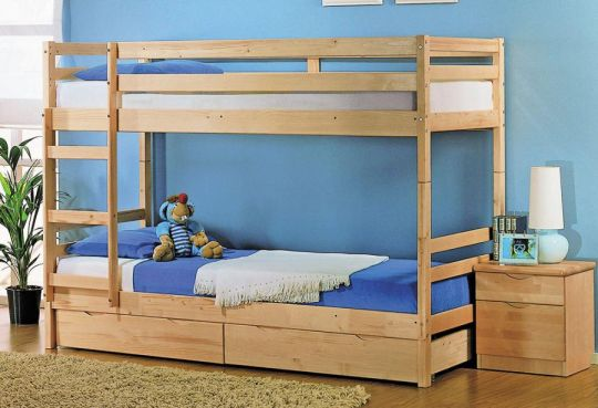 """Детская двухъярусная кровать """"Массив"""" (трансформер) с ящиком"""