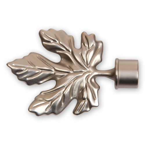 Наконечник Кленовый лист сатин 16 мм