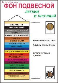 Фон на подвесе/тубе Superior Орех 1,6х2,1м