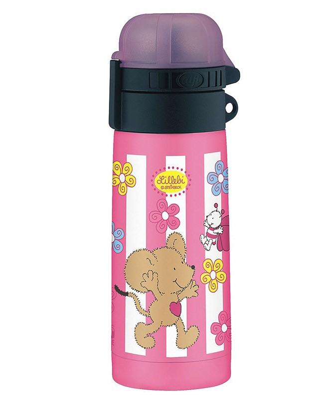 Термос-бутылочка Alfi Lillebi Streifen pink 0,35L