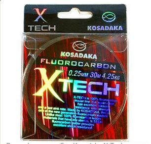 Леска флюорокарбон Kosadaka X-Tech 30 м