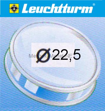 Капсула для монеты Leuchtturm 22,5 мм, упаковка 10 шт