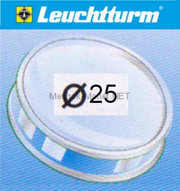 Капсула для монеты Leuchtturm 25 мм, упаковка 10 шт