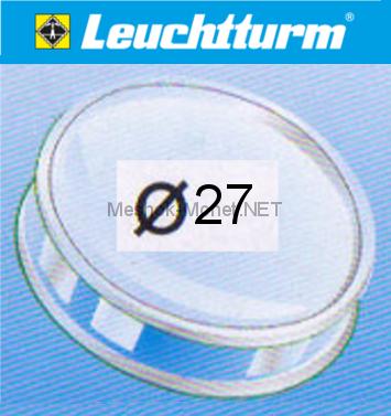 Капсула для монеты Leuchtturm 27 мм, упаковка 10 шт