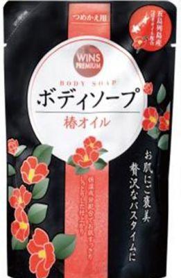 Премиальное крем-мыло для тела с маслом камелии Wins Camellia oil body soap (мягкая упаковка)