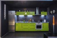 салатовая кухня в современном стиле