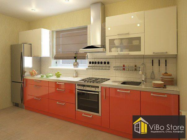 Современная кухня с глянцевым фасадом
