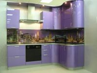 Современная угловая кухня на 3 кв. метра