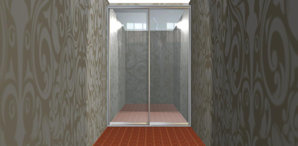 Встроенный шкаф купе - с одной стойкой, двери зеркальные