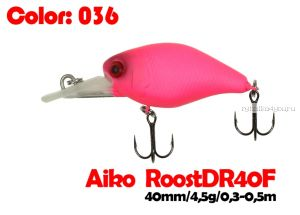 Воблер Aiko Roost cnk DR 40F  40 мм/ 4,5 гр / 0,3 - 0,5 м / цвет - 036