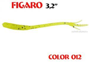"""Мягкая приманка Aiko  Figaro 3.2"""" 80мм / запах рыбы / цвет - 012  (упаковка 8шт)"""