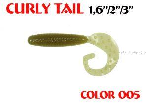 """Твистеры Aiko Curly Tail F 4"""" 100 мм / 8,8 гр / запах рыбы / цвет - 005 (упаковка 4 шт)"""