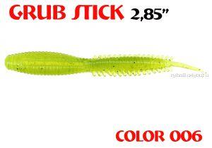 "Червь Aiko Grub Stik 2.85"" 72 мм / запах рыбы / цвет - 006 (упаковка 8 шт)"