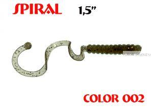 """Твистеры Aiko  Spiral 1.5"""" 25 мм / 0,62 гр / запах рыбы / цвет - 002 (упаковка 10 шт)"""