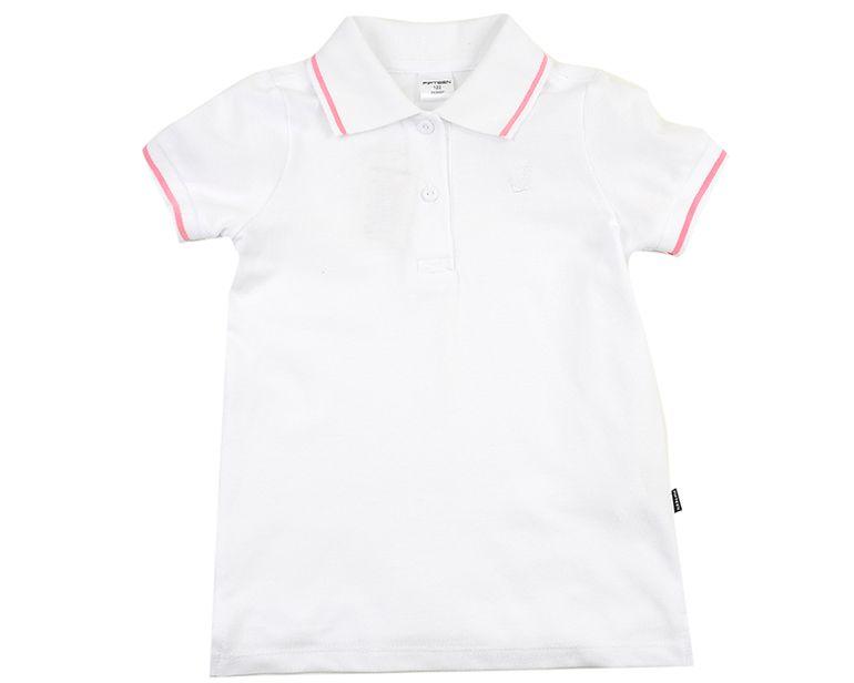 Белая футболка-поло для мальчика