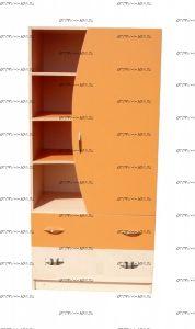 Шкаф-стеллаж комбинированный Мартин (80х50х170)