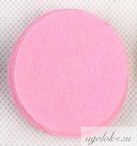 Фетровые кружочки 4 см (розовый)