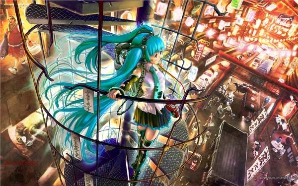 Плакат Vocaloid Hatsune Miku_01