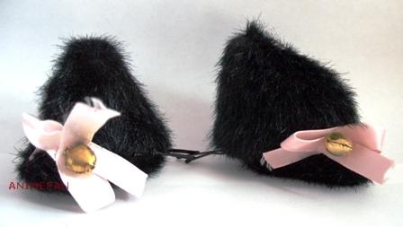 Ушки черные с бантиками