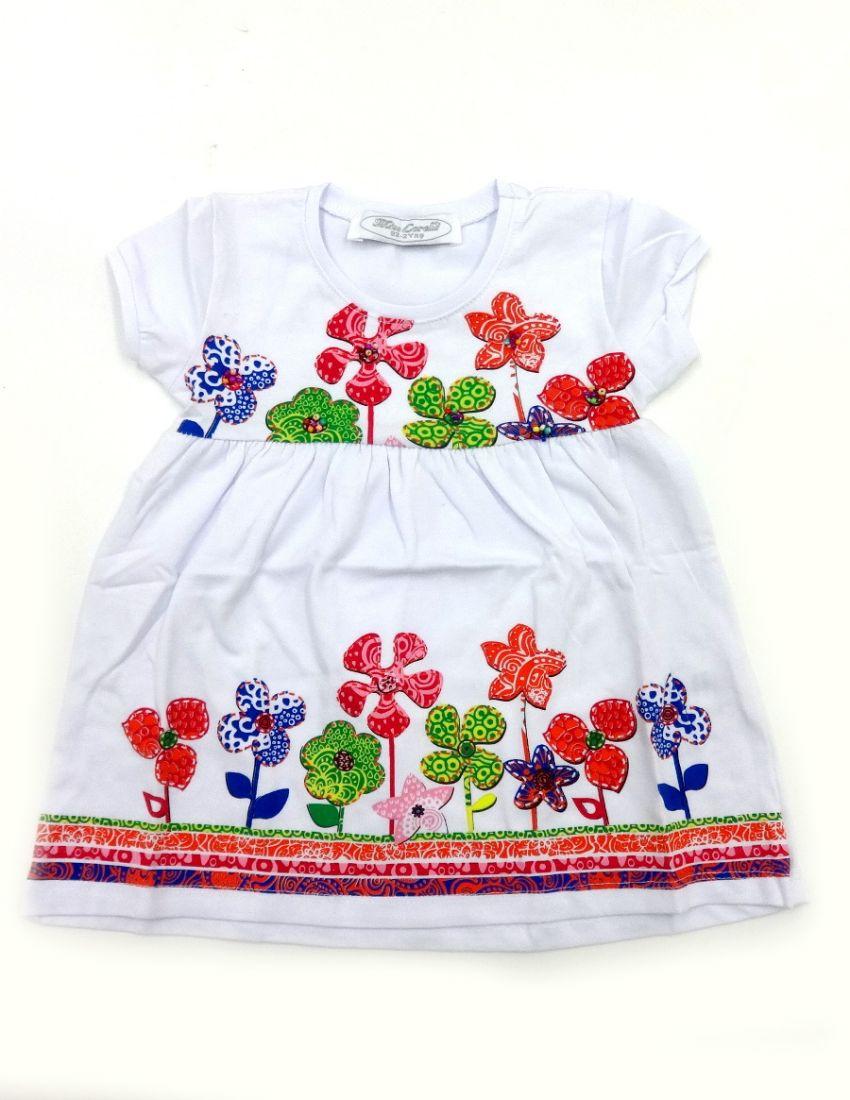 Белое платье для девочки Цветочки