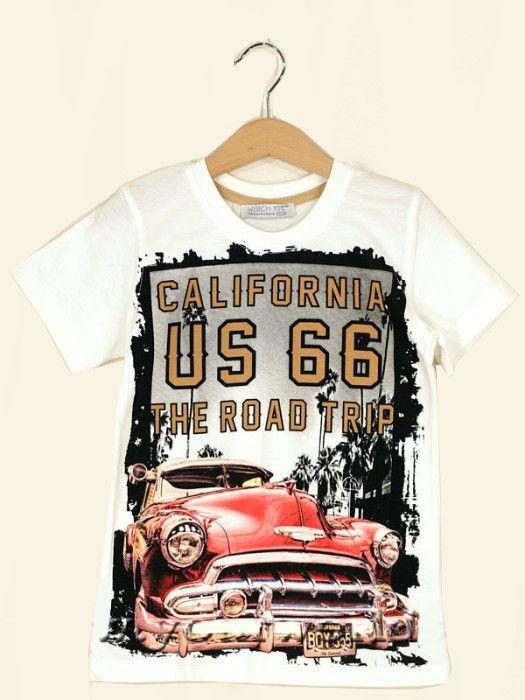 Белая футболка для мальчика California