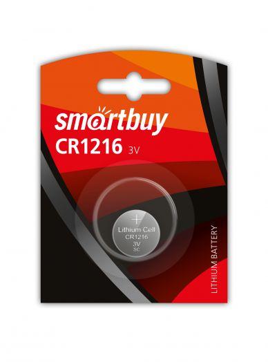 Батарейка литиевый элемент питания (диск) Smartbuy CR1216/1B