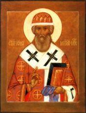 Икона Иона Московский (рукописная)