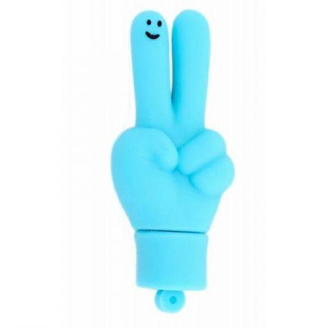 Флешка Рука голубая