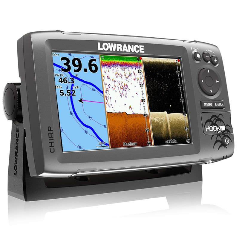 Эхолот-навигатор Lowrance HOOK-7 Base with Mid/High/DownScan™